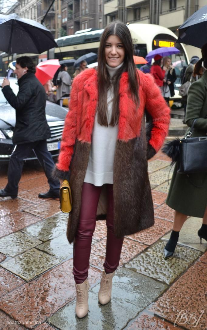 #fur #coat #red