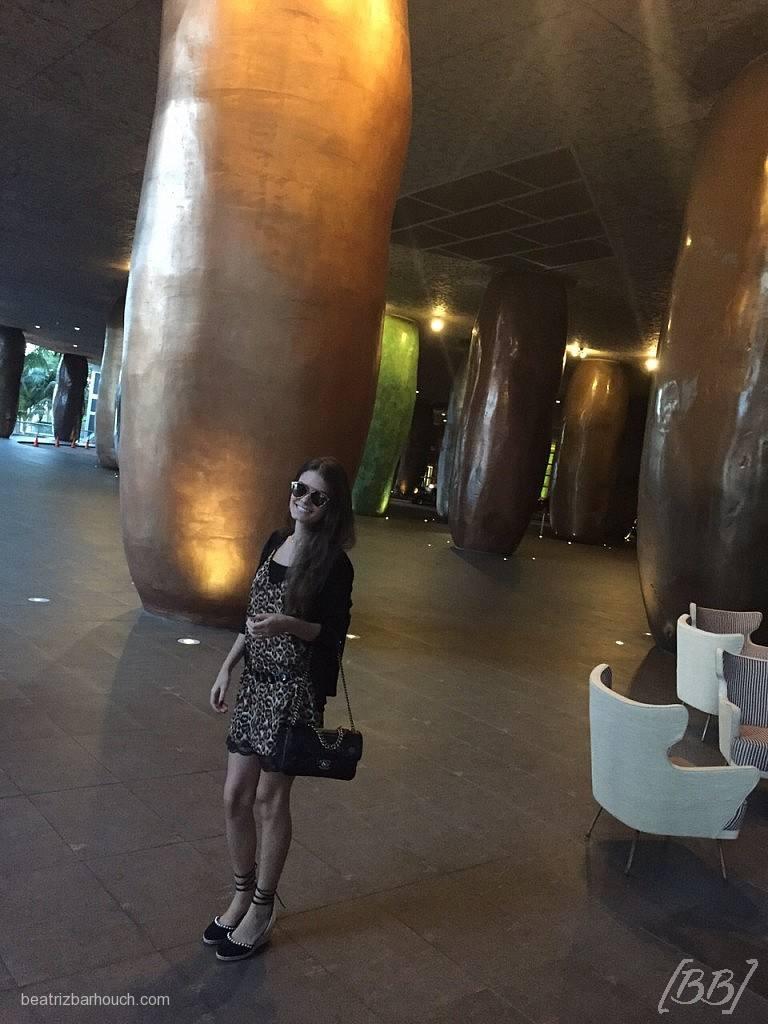 entrada com essas colunas gigantes que eu adoro