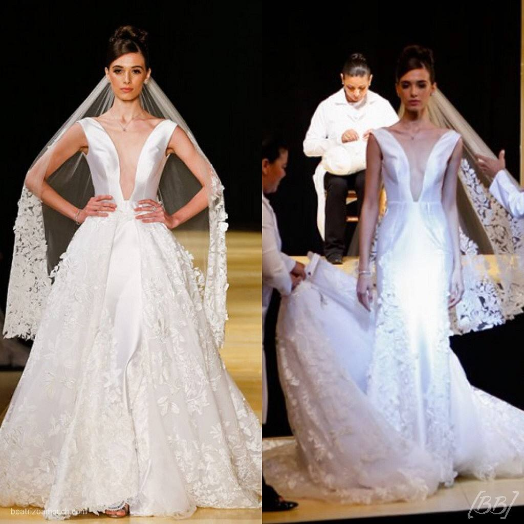 O mesmo vestido de noiva, o qual a saia superior pode ser removida